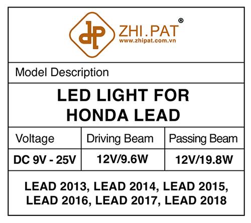 Công nghệ led 2 tầng Honda LEAD